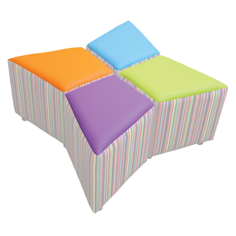 Squiangle Set of 4 Seat Colour