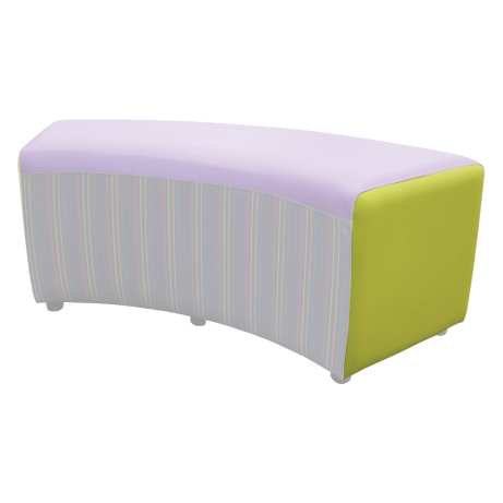 Buzz Curve Seat Patterned Secondary Colour