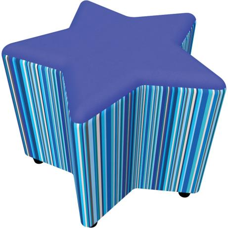Upholstered Star Shaped Seat