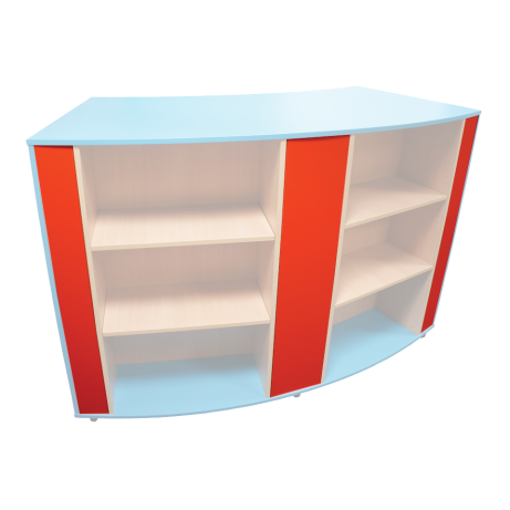 Wiggle Mobile Shelving Vertical Colour