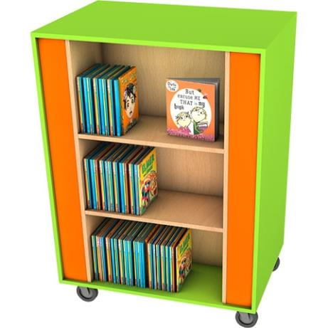 Wiggle Mobile Square Shelving unit for book storag