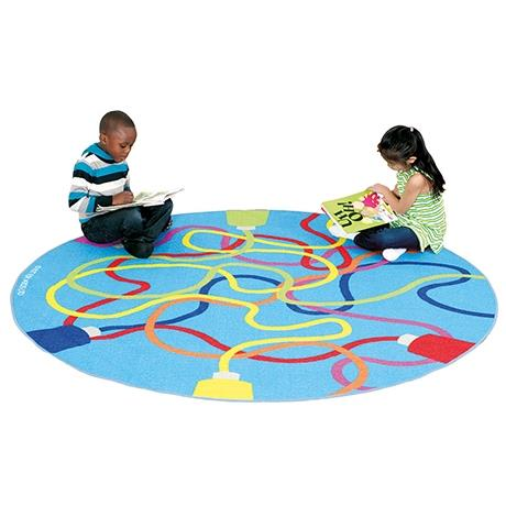 Colourful, durable tough loop rug