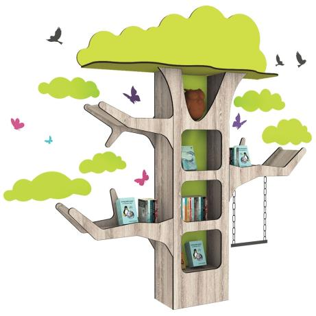 Large tree-shaped feature book displayer