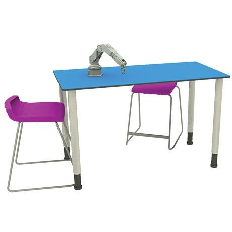 A higher level table with adjustable height ideal