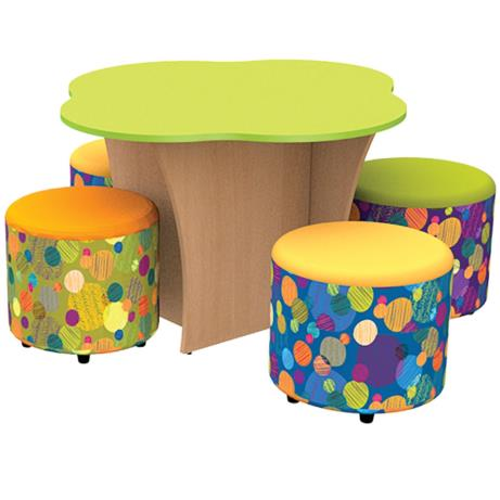 Treetop Table Kit with a tree shaped table and fou