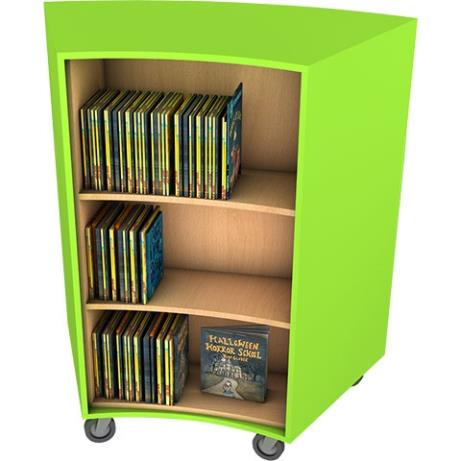Mobile single-size double face mobile bookcase