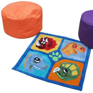 SALE Dinosaur Rug and Bean Nugget Set WAS £168 NOW £100