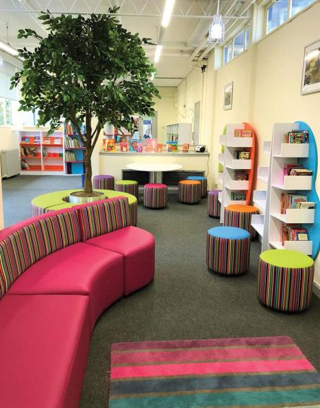 Inkersall library with tree
