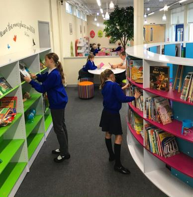 Inkersall library shelving