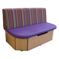 Storage Bench Two tone with pattered fabric