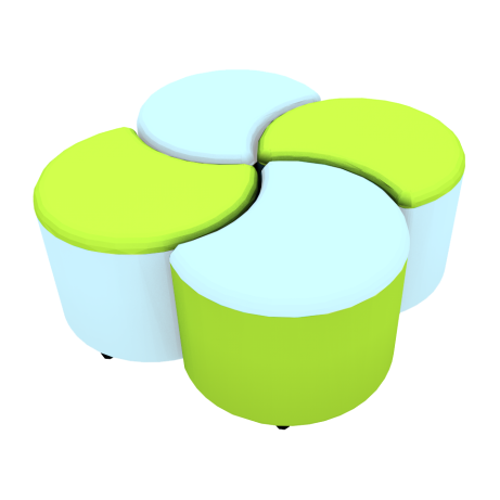 Clover Seating Set Two Tone Second Colour