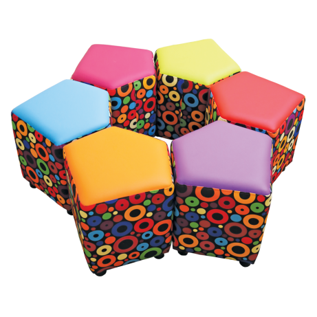 Set of 6 Squexagon Seats