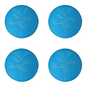 Embroidered Drums: Tree Set of 4