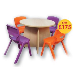 SALE! Tuffet table kit with chairs