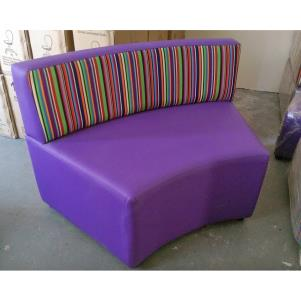 SALE! Revolve curved seat in Plum Leatherette & Carousel