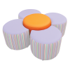 Daisy Seating Set Drum Colour