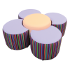 Daisy Seating Set Accent Fabric